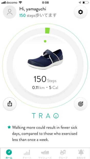 TRAQアプリホーム画面